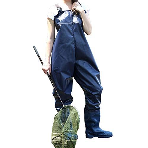 Xiaoyezi Wathose, Angeln Stiefel Wathosen Jagd verdicken wasserdichte Stiefel Breathable Nylon und PVC Watstiefel für Männer und Frauen,42