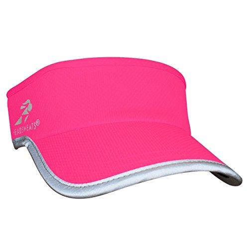Headsweats Reflective Supervisor High Visibility Schirmband Visor, Neon Pink, Women