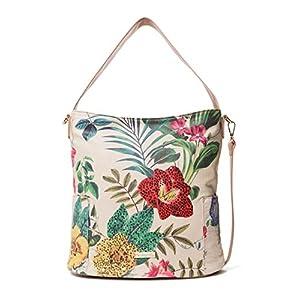 Desigual Damen Bag Clio Yakarta Mini Women Schultertasche, Weiß (Crudo), 16.5x31.5x33 cm