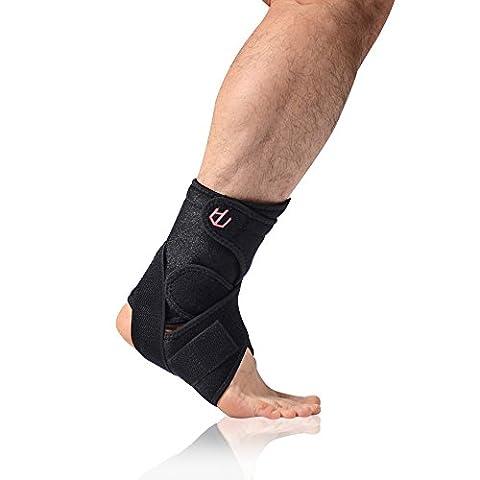 unclehu Knöchelbandage mit atmungsaktiv Verstellbarer Knöchel Stabilisator Unterstützung für Sportverletzungen
