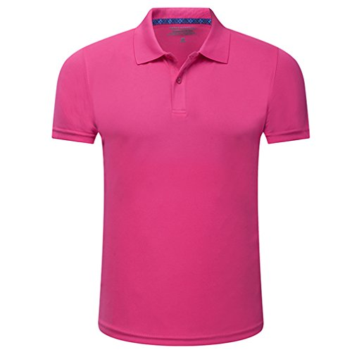 emansmoer Femmes Outdoor Sports Manches Courtes Bouton vers Le Bas Golf Polo T-Shirts Dames Quick...