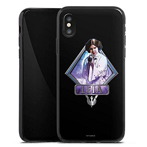 Apple iPhone X Silikon Hülle Case Schutzhülle Star Wars Merchandise Fanartikel Leia Silikon Case schwarz
