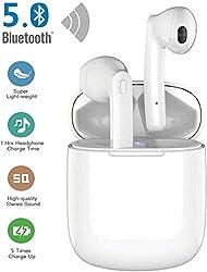 Bluetooth Kopfhörer in Ear, Sport Kabellos Ohrhörer Bluetooth 5.0 Headset, Wireless kopfhörer mit Portable Ladekästchen, IPX7 wasserdichte für Apple Airpods Android/iPhone