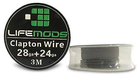 LifeMods Clapton Wire A1 Hitzebeständige Drahtspule AWG 28/24 Gauge 3