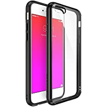 Ringke [Fusion] iPhone 6S/6funda–Ringke FUSION transparente PC Back TPU Bumper [Crystal Claro] Attached tapas antipolvo con protector de protector-parent, negro, mediano