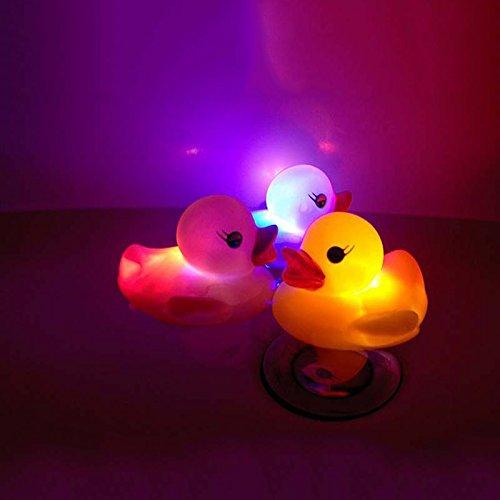 Open Buy - 3 canards en caoutchouc avec éclairage multicolore LED et commutateur ON/OFF