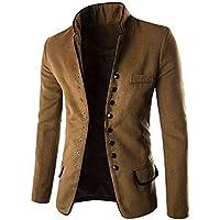 Yvelands Moda para Hombre Cardigan Sweater Button Coat Blusa de Manga Larga Top Autumn Winter Sweatshirt Jacket.