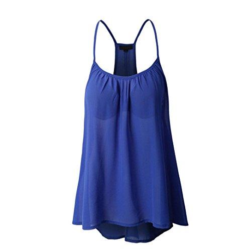 FNKDOR Summer Womens Ladies Party Beach Bar Sexy Slim Sleeveless Halterneck Tank Crop Tops Vest Blouse T-Shirt