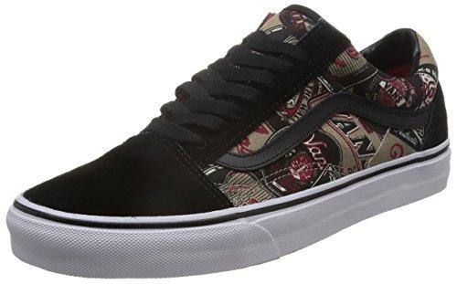 Herren Sneaker Vans Old Skool schwarz Sneakers labels schwarz Skool gold f9780c