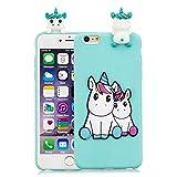 HopMore Divertidas Funda para iPhone 6S Plus/iPhone 6 Plus Silicona Dibujo 3D Panda Animal Carcasa...