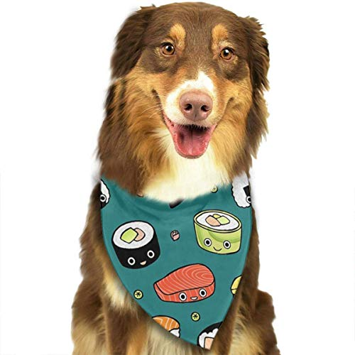 Sdltkhy Japan Sushi Kawaii Emotional Pet Dog Cat Bandanas Triangle Bibs Pet Scarf Dog Neckerchief Headkerchief Pet Accessories
