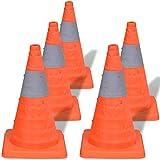 vidaXL 5 Pop-Up Car Traffic Warning Cones Orange Parking Safety Road Guard