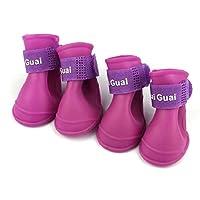 Ukamshop(TM)Dog Candy Colors Boots Waterproof Rubber Pet Rain Shoes Booties