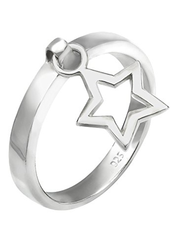Elli Damen-Ring Stern Anhänger Astro Sternzeichen Trendsymbol silber 925