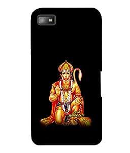 printtech Lord God Hanuman Back Case Cover for Blackberry Z10