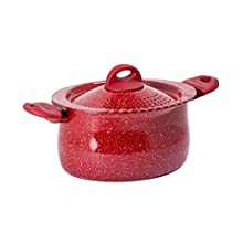 Bialetti Y0C8PP0260 Pot de pâte, Aluminium, Gris/Rouge, 26 cm