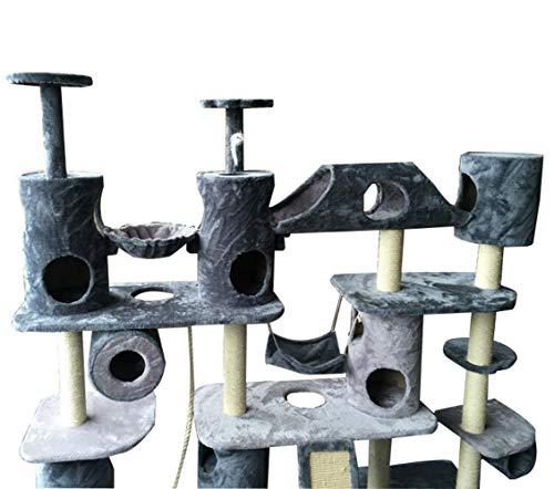 YAMEIJIA Luxus super große Katze Klettergerüst Katzenbaum-Haustier-Versorgung Katzenvilla