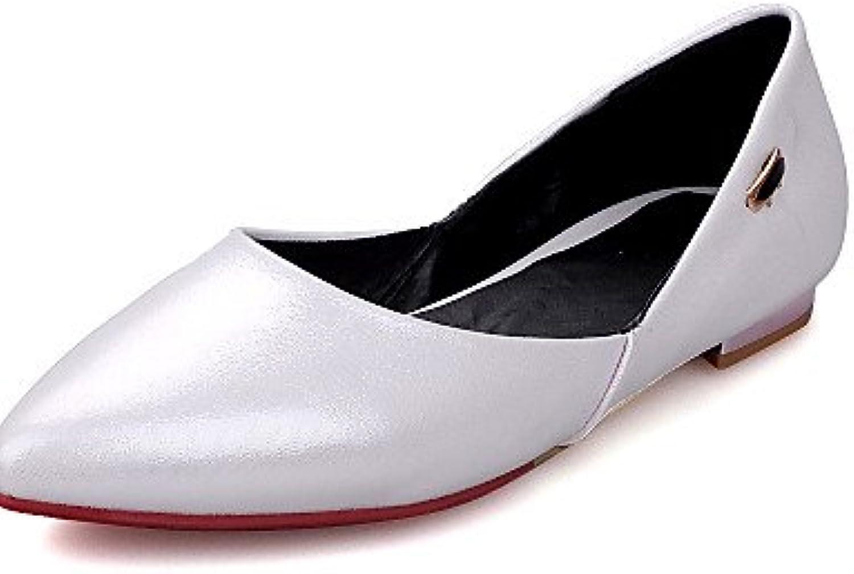 GGX/Damen Schuhe Low Heel Heels/spitz Toe Heels Kleid/Casual rot/weiß/gold