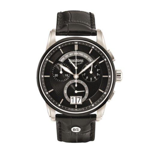 Bruno Söhnle Herren-Armbanduhr XL Grandioso Chronograph Quarz Leder 17-73117-741