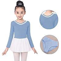 Hoverwin - Ballet Dresse Fille Justaucorps Robe de Danse Classique Gym Jupe  Robe Princesse Manches Longues 066145ff9bd