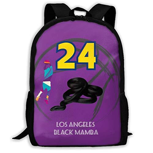 Los Angeles Black Mamba 24 Basketball Unisex Adult Unique Rucksack,School Leisure Sports Book Bags,Durable Oxford Outdoor College Laptop Computer Shoulder Bags,Lightweight Travel Tagesrucksäcke