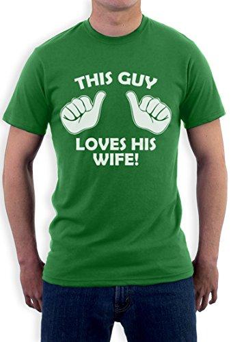 Dieser Kerl liebt seine Frau T-Shirt Grün