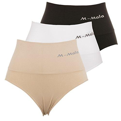 Mieder-slips M-Mala Figur-formend Bauch-weg-Effekt Schwarz Weiß