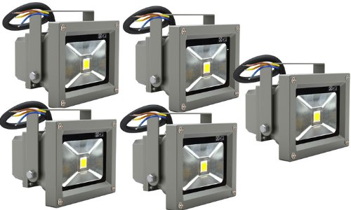 Preisvergleich Produktbild Goodia LED Wandstrahler Flutlicht Fluter Strahler Scheinwerfer 5 Stk 230V 10W IP65 Spot [Energieklasse A]