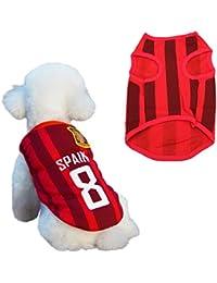 SymbolLife Camiseta de Fútbol Para Perros, Disfraz de Fútbol, Copa del Mundo ...