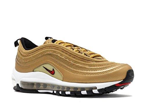 W AIR MAX 97 OG QS 'METALLIC GOLD' - 885691-700 - US Size METALLIC GOLD/VARSITY RED