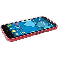 TBOC® Custodia Gel TPU Rossa per Alcatel One Touch Pop