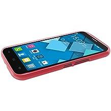 TBOC® Funda de Gel TPU Roja para Alcatel One Touch Pop C9 7047A 7047D de Silicona Ultrafina y Flexible