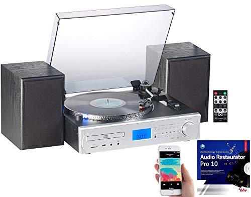 eoanlage: 5in1-Plattenspieler/Digitalisierer, CD, Bluetooth, Kassette, MP3, FM (Schallplatten digitalisieren) ()