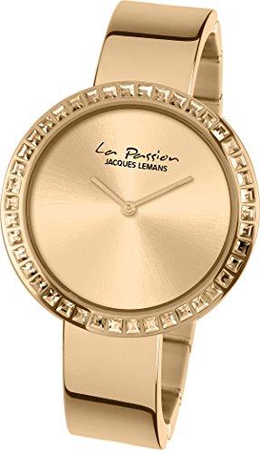 Jacques Lemans Damen-Armbanduhr La Passion Analog Quarz Edelstahl LP-114C