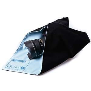 X-Wrap Mikrofaser-Einschlagtuch mit Klett (Schutzhülle, Transportschutz) 50 x 50 cm - z.B. für mittlere bis große DSLR-Kameras, Teleobjektive oder Notebooks.