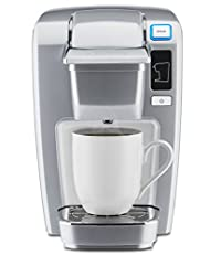 Platinum : Keurig K15 Single Serve Compact K-Cup Pod Coffee Maker, Platinum
