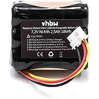 vhbw NiMH batería 2500mAh (7.2V) para Robot limpiasuelos Robot autónomo de Limpieza iRobot