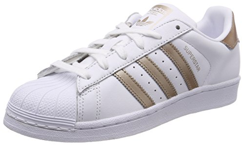 size 40 cd974 5c182 adidas Womens Superstar Gymnastics Shoes, Cyber MetallicFootwear White 0,  5 UK 38