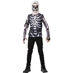 Fortnite - Disfraz camiseta Skull Trooper para niño, 9-10 años (Rubies 300208-TE)