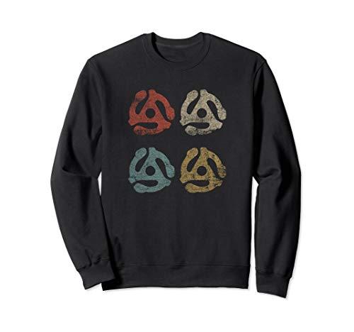 45 U/min Plattenspieler Schallplatten Adapter DJ Geschenke Sweatshirt Adapter Sweatshirt
