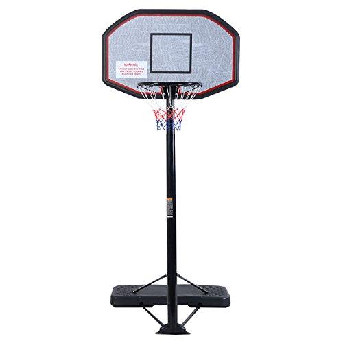 Basketballständer Basketballkorb Set höhenverstellbar Basketballnetz outdoor indoor Höhenverstellbar von 205 bis 305cm mit Ständer