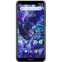 Nokia 5.1 Plus - Smartphone débloqué 4G (5,8 Pouces, 32 Go, Double Nano SIM, Android One Oreo) Noir