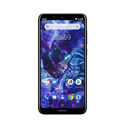 Nokia 5.1 Plus Smartphone (14,73 cm (5,8 Zoll) HD+ Display, 13 MP + 5 MP Dual Rückkamera, 8 MP Frontkamera, 32 GB interner Speicher, 3 GB RAM, Dual-Sim, inkl. Powerbank) gloss schwarz
