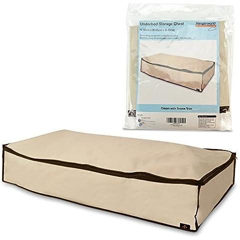Hangerworld - Bolsa de almacenaje antipolillas para debajo de la cama, color beige y marrón