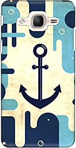 The Racoon Lean printed designer hard back mobile phone case cover for Samsung Galaxy On7 Pro. (the navy)