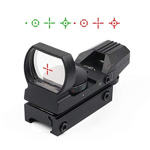 Red Dot Visier 22mm/20mm Weaver oder Picatinny Railsysteme Airsoft Red Dot Scope Reflex Sight mit Montage und Schutzkappe 4 Absehen