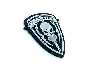 ISIS Slayer Crâne Noir Airsoft Velcro PVC Patch
