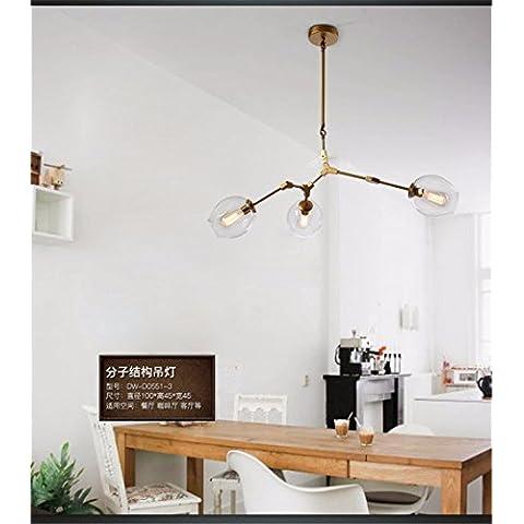 Ty967-Testa singola piccoli lampadari a personalizzare il villaggio creativo lampadario in ferro lampadari creative lampade a soffitto lampade retrò DW-D