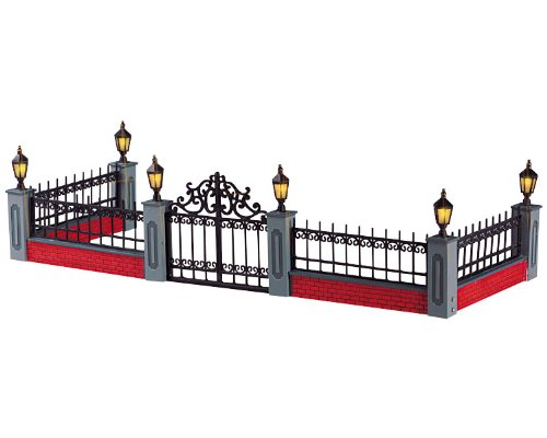 RECINZIONE IN FERRO BATTUTO - LIGHTED WROUGHT IRON FENCE