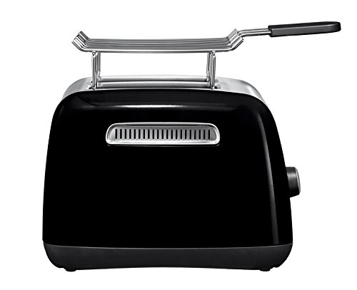 Kitchenaid 5KMT221EOB - Tostadora, color negro y plateado